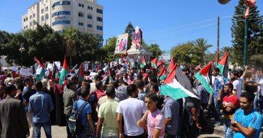 تظاهرة فى جنوب قطاع غزة احتجاجا على أزمة الكهرباء