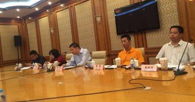 رئيس مجموعة صحف شانغهاي خلال لقائه بالوفد المصرى