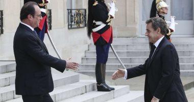 الرئيس الفرنسى فرنسوا هولاند ونيكولا ساركوزى