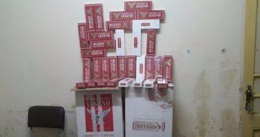 ضبط 800 علبة سجائر مجهولة المصدر فى حمله تموينية بدمياط