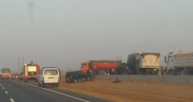 إصابة 4 أشخاص فى حادث تصادم بين سيارتين بالمنيا