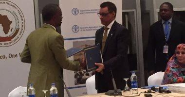 البرلمان الأفريقى يوقع مذكرة تفاهم مع منظمة الفاو حول الأمن الغذائى