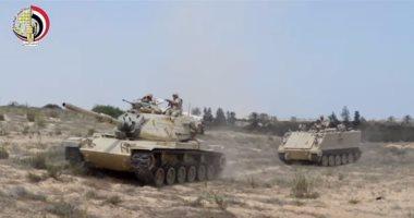 بالفيديو.. شاهد عمليات قوات إنفاذ القانون لتطهير شمال سيناء من التكفيريين