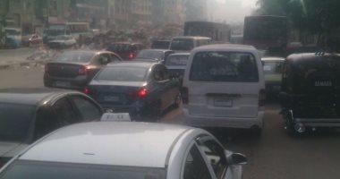 أهالى حى المطرية يشكون من الاختناق المرورى بسبب توقف أعمال الصيانة بالكوبرى