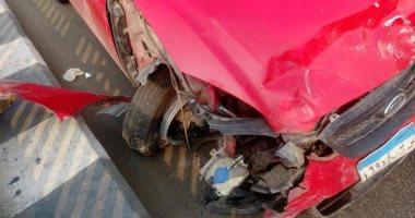 إصابة سائق وطالبة فى حادث تصادم سيارة بعامود إنارة بالمنوفية