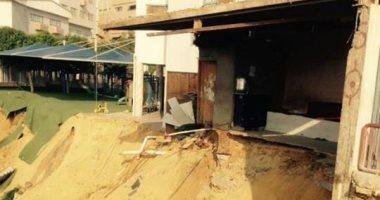 تصدع أحد المبانى وانهيار السور يوقف الدراسة فى مدرسة بالمعادى