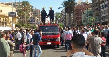 تشييع جثمان الشهيد محمد الحسينى بمسقط رأسه فى بور سعيد