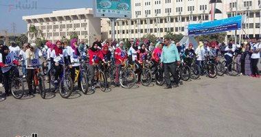 البيئة تشارك في مهرجان الدراجات بجامعة الفيوم لتشجيع النقل غير الآلى