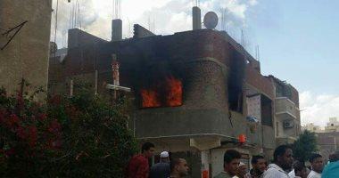 السيطرة على حريق شب فى 3 منازل بمركز أبو تيج