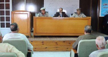 مدير أمن المنوفية يلتقى بالعمد ومشايخ القرى