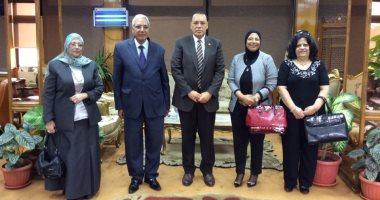 رئيس جامعة قناة السويس يُستقبل وفد من المجلس القومي للمرأة