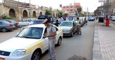 تحرير 434 مخالفة مرورية وتحصيل 8 آلاف جنيه غرامات فورية بمطروح