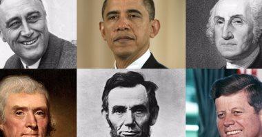 من جورج واشنطن إلى أوباما معلومات لا تعرفها عن رؤساء الولايات المتحدة روزفيلت مكث فى الحكم 12 عاما وريجين حلف اليمين فى الـ 69 من عمره وجونسون الوحيد الذى أطيح به بواسطة