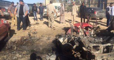 وصول عشرات الجرحى لمستشفى الجلاء ببنغازى جراء تفجير سيارة مفخخة