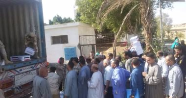 بالصور.. القوات المسلحة توزع 3 الآف كرتونة غذائية على المواطنين بسفاجا