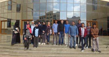 """بالصور ..طلاب """"مدرسة اللغات الرسمية"""" في زيارة لجامعة كفر الشيخ"""
