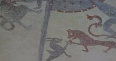 العثور على نقوش فوق سطح كنيسة بالسويد تعود لـ 800 عام  201611210154225422