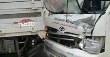 إصابة 9 أشخاص فى حادث تصادم سيارتين بمركز أبو المطامير بالبحيرة