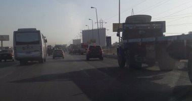 سير سيارات النقل الثقيل على دائرى طلعة بشتيل نهارا يهدد الأهالى