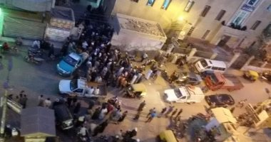 أهالى ضحايا حادث كفر صقر يصلون المستشفى لاستلام جثامين ذويهم