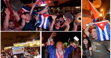 آلاف الكوبيين يحتفلون فى شوارع ميامى بنبأ وفاة فيدل كاسترو