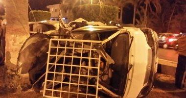 إصابة ضابط و14 مجندا فى انقلاب لورى على طريق الإسماعيلية / القاهرة