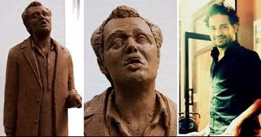 الفنان التشكيلى محمد حبيش صاحب تمثال الشيخ حسنى للراحل