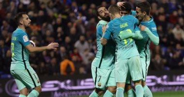 شاهد.. برشلونة يسقط فى فخ التعادل أمام فريق من الدرجة الثالثة بالكأس