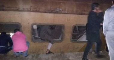 توقف حركة قطارات الصعيد بعد خروج عربتين محملتين بالبازلت عن القضبان بالمنيا