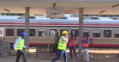 المتحدث العسكرى ينشر فيديو تطوير الهيئة الهندسية لمحطة قطار أسوان