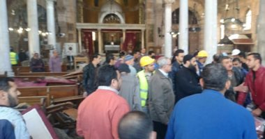 انتقال فريق من نيابة حوادث غرب القاهرة لمعاينة موقع انفجار الكاتدرائية
