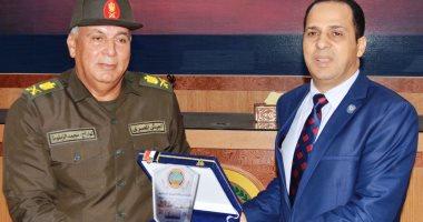 وفد من جامعة دمنهور فى زيارة للمنطقة الشمالية العسكرية