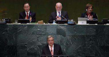 الأمين العام للأمم المتحدة يدعو  لتعزيز المؤسسات والجيش فى لبنان