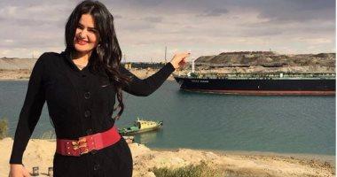 """بالفيديو والصور.. سما المصرى تزور قناة السويس الجديدة: """"إنجاز عظيم"""""""