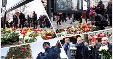 الإرهاب يضرب قلب أوروبا.. الألمان يضعون أكاليل الزهور على قبور ضحايا برلين
