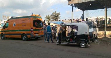 إصابة شخصين فى حادث تصادم بطريق الفيوم الصحراوى