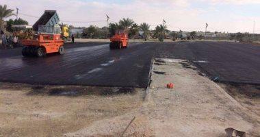 رصف شارع ماكينة سراج الدين بمدينة الشهداء بالمنوفية بتكلفة 140 ألف جنية
