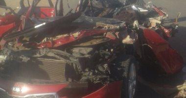 مصرع شخصين وإصابة 5 آخرين فى تصادم 4 سيارات بطريق الإسماعيلية الصحراوى