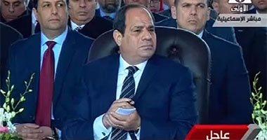 السيسى يصل بورسعيد لافتتاح مشروع كوبرى النصر العائم بمنطقة الرسوة