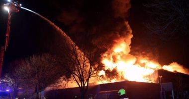 كردون أمنى فى العريش بحثا عن منفذى حريق جراج شركة النظافة