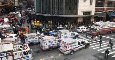 إصابة 37 شخصا فى خروج قطار ركاب عن القضبان بمدينة نيويورك