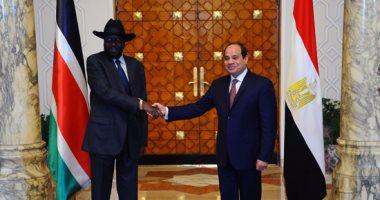 السيسى: مصر مهتمة بدعم كل أمر يحقق السلام والاستقرار فى جنوب السودان