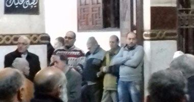 أهالى منوف يشيعون جنازة شقيق نقيب الصحفيين بالمنوفية