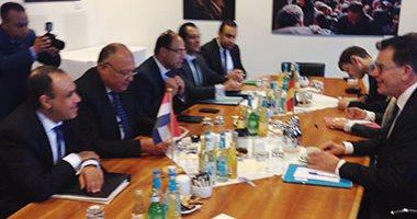 شكرى يلتقى وزراء التعاون الاقتصادى والطاقة فى ثانى أيام زيارته لـ