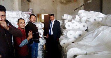ضبط 5 مصانع للسلع الغذائية فى حملة بالقناطر الخيرية بدون ترخيص