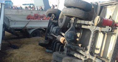 مصرع 4 أشخاص وإصابة 9 فى حادث تصادم بطريق برج العرب بالإسكندرية
