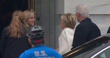 """هيلارى كلينتون تصل """"الكابيتول"""" لحضور حفل تنصيب ترامب رئيسًا لأمريكا"""