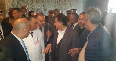 وزير الصحة ومحافظ المنيا يتفقدا أعمال تطوير مستشفى ملوى العام