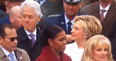 شاهد.. غضب هيلارى كلينتون وغيرتها من نظرات زوجها لإيفانكا ترامب