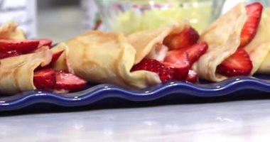 طريقة عمل الكريب بالشيكولاته والفراولة